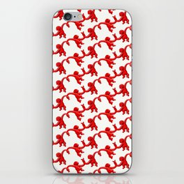 Monkey Toy Pattern - Red iPhone Skin