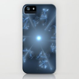 Fractal 29 blue star iPhone Case