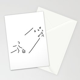curling curling winter sports Stationery Cards