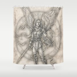 Michael: The Right Hand of God Shower Curtain
