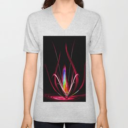Abstract perfektion - Lightshow Unisex V-Neck
