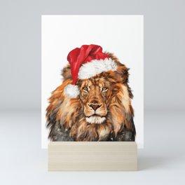 Christmas Lion Mini Art Print