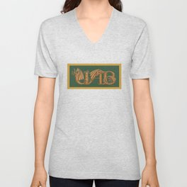 UAB spelled out in Dragon Letters Unisex V-Neck