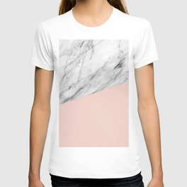Marble and Pale Dogwood Color T-shirt