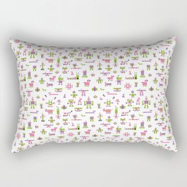Robots-Pink Rectangular Pillow