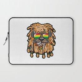 RASTA LION Joint Smoking Weed 420 Ganja Pot Hash Laptop Sleeve