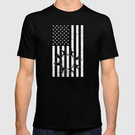 American Flag Paragliding Skydiver T-shirt