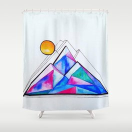 Rockies in the Abstract Shower Curtain