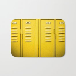 Yellow Lockers Bath Mat