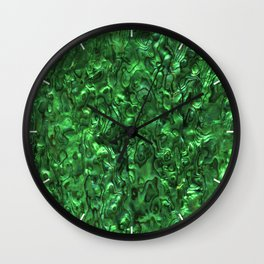 Abalone Shell | Paua Shell | Green Tint Wall Clock