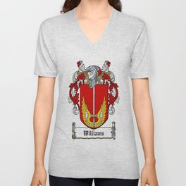 Family Crest - Williams - Coat of Arms Unisex V-Neck