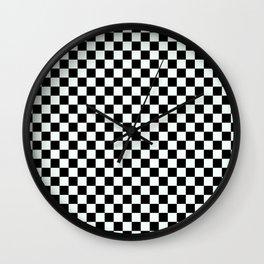 B&W CHECKER Wall Clock