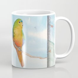 Song for Orange Bellied Parrot Coffee Mug