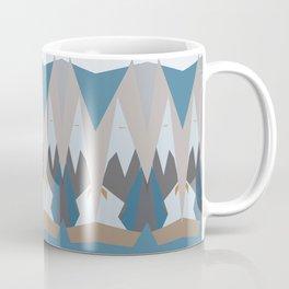 Geometric Snow Tops Print Mug
