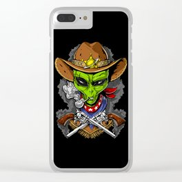 Cowboy Alien Clear iPhone Case