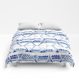 Tribal indigo pattern Comforters