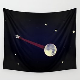 Moon Banjo Wall Tapestry