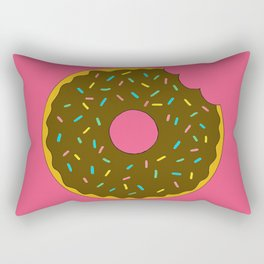 Chocolate Donut Rectangular Pillow