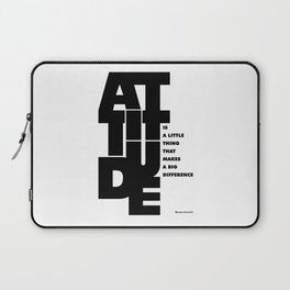Lab No. 4 - Life Inspirational Quotes Of Attitude Inspirational Quotes Poster Laptop Sleeve