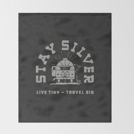 """""""Stay Silver"""" Retro Type (1 color) Throw Blanket"""