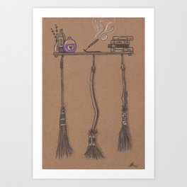 Witches Cubby Art Print