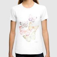 butterflies T-shirts featuring Butterflies by Aline Souza de Souza