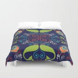 Peacock Nouveau Duvet Cover