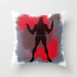 Red Hood Splatter Background Throw Pillow