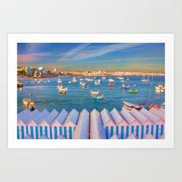 Cascais Summer Art Print