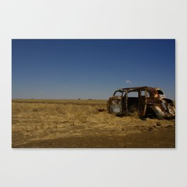 Rough neighborhood to park your car in... Canvas Print