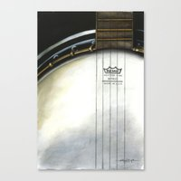 banjo Canvas Prints featuring Banjo by Anthony Billings