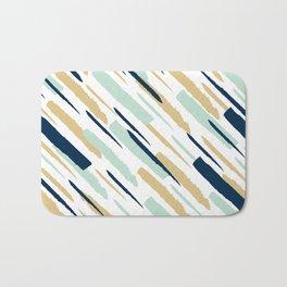 Diagonal strokes Bath Mat