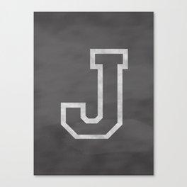 Letter J Canvas Print