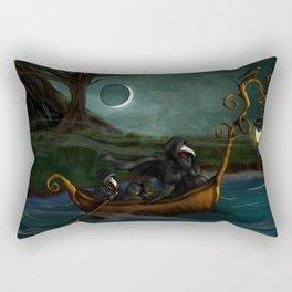 To Poveglia (The Plague Doctor) Rectangular Pillow