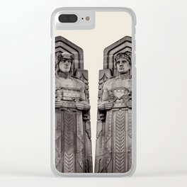 Guardians in Oatmeal Clear iPhone Case