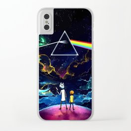 The dark side of a man and a boy Clear iPhone Case