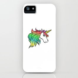 "A Perfect Gift Tee With An Illustration Of A Unicorn ""Be A Unicorn Not A Twatopotamus"" T-shirt iPhone Case"
