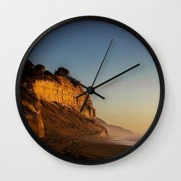 Golden Cliff Wall Clock