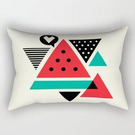Watermelon Geometic Triangles Rectangular Pillow