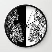 maori Wall Clocks featuring Maori Sides by SarinneG