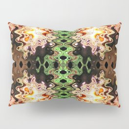 Copper Brown Green Poof Abstract Pillow Sham