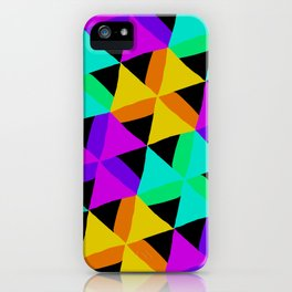 80s Colors Triangle Pattern iPhone Case