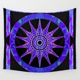 Starlit Purple Nights Abstract Mandala Artwork Wall Tapestry