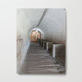 Tunnel in Fort Pickens Metal Print