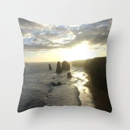 Dusk falls over the Great Southern Ocean Throw Pillow