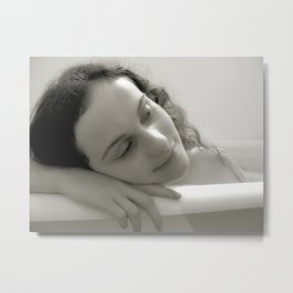 Bathtub Dreams Metal Print