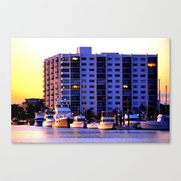 Waterfront Condos Canvas Print