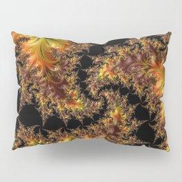 Autumn Leaves yellow brown orange Fractal Pillow Sham
