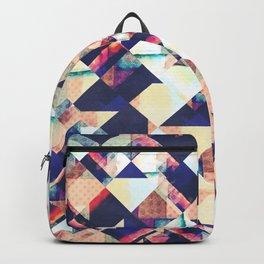 Geometric Grunge Pattern Backpack