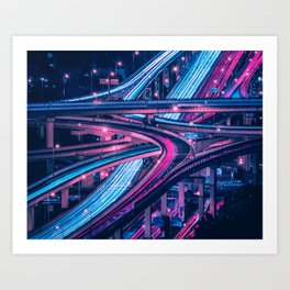 Shanghai six-level stack interchange Art Print